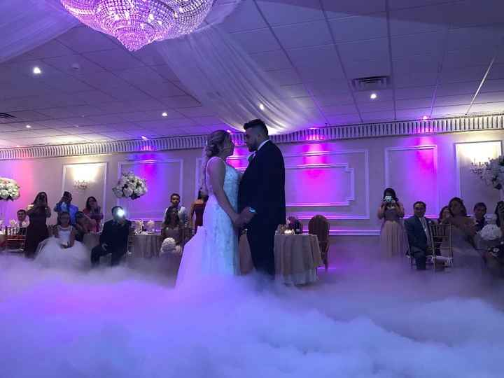 First Dance Picture under the clouds