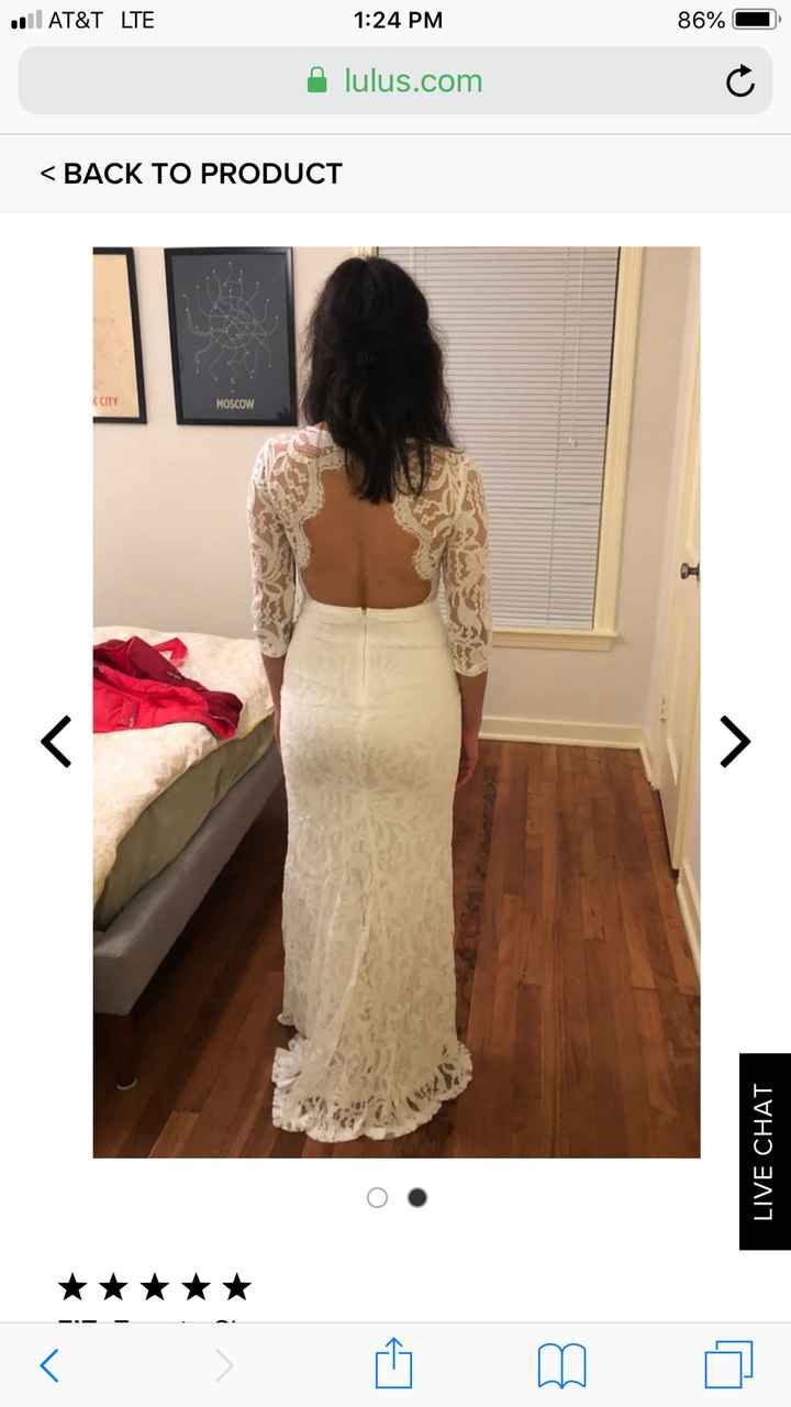 Who here has a bridal dress from Lulus? - 1