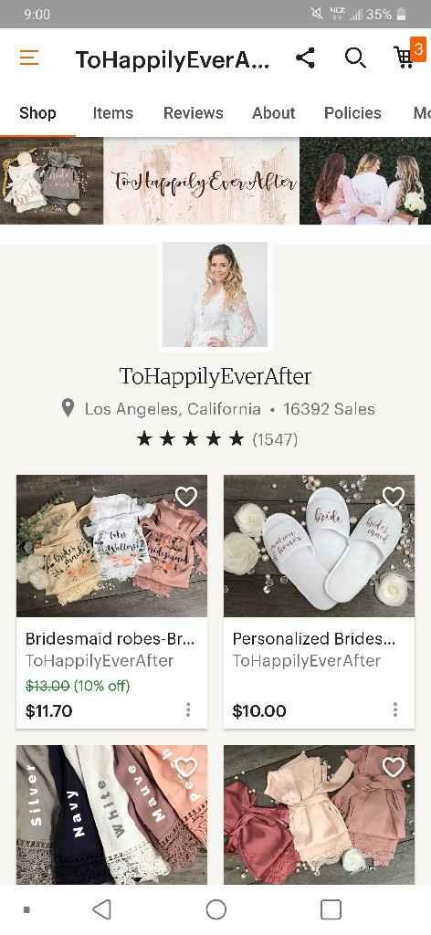 Long bridesmaid robes - 1