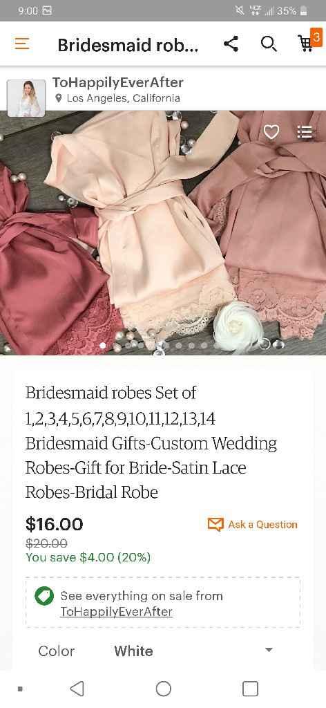 Long bridesmaid robes - 2