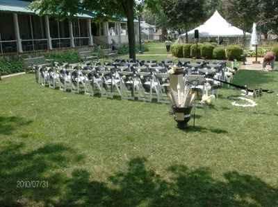 Outdoor wedding ceremony decorations?
