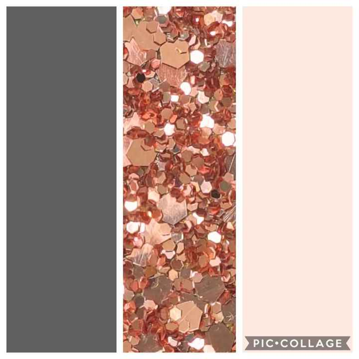 Steel Grey, Blush Pink & Accents of Rose Gold