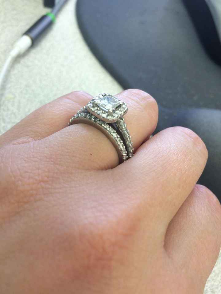 Ladies with halo rings, show me your straight wedding bands!