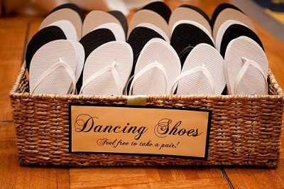 Flip Flops at the reception? How do you do this? | Weddings ...