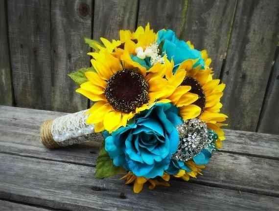 Sunflower & Turquoise wedding - 1