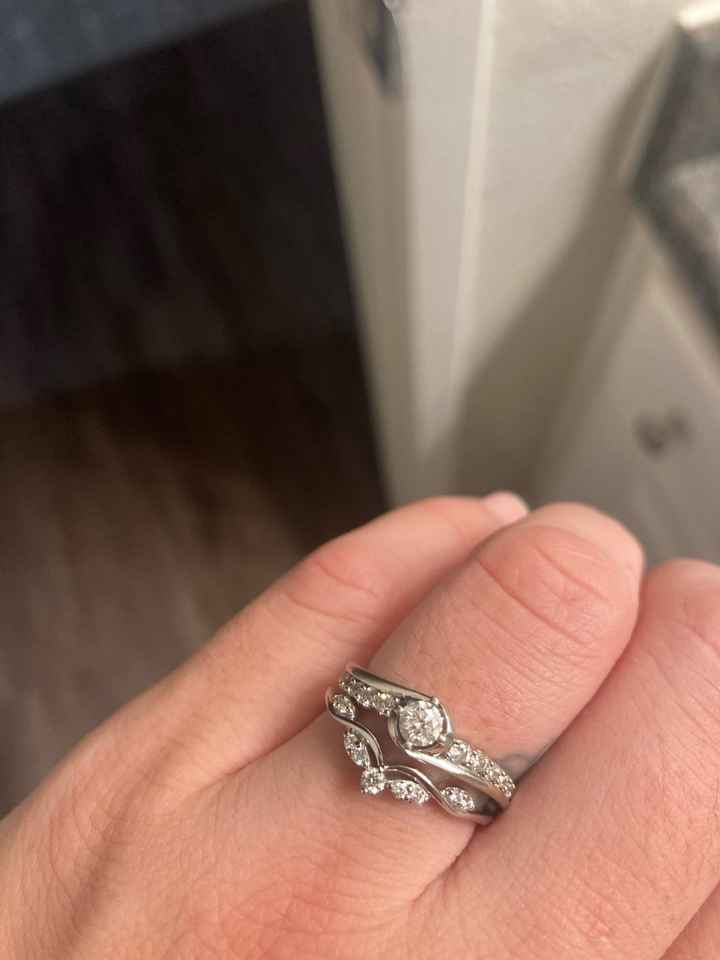 Panicked over wedding ring, is it tacky? - 1