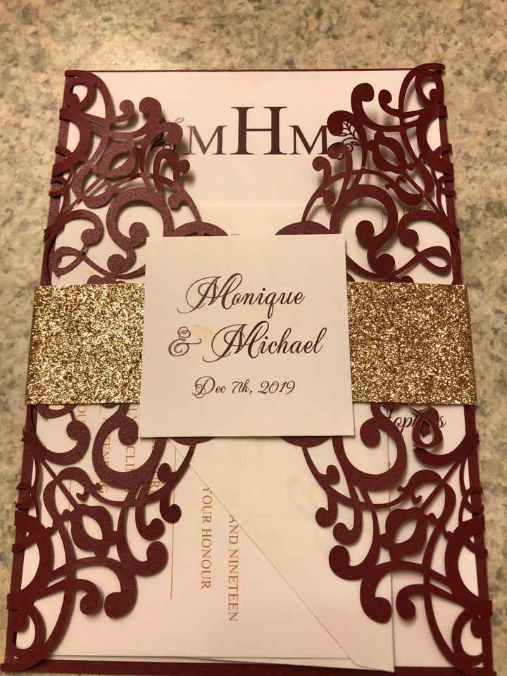 Show me your wedding invitations, save-the-dates, and thank you cards - 1