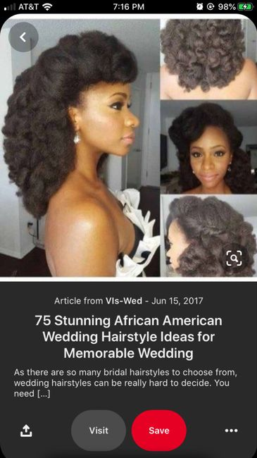 Natural Hair Wedding Styles - 4c Hair - 6