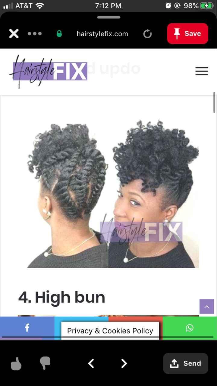Natural Hair Wedding Styles - 4c Hair - 2