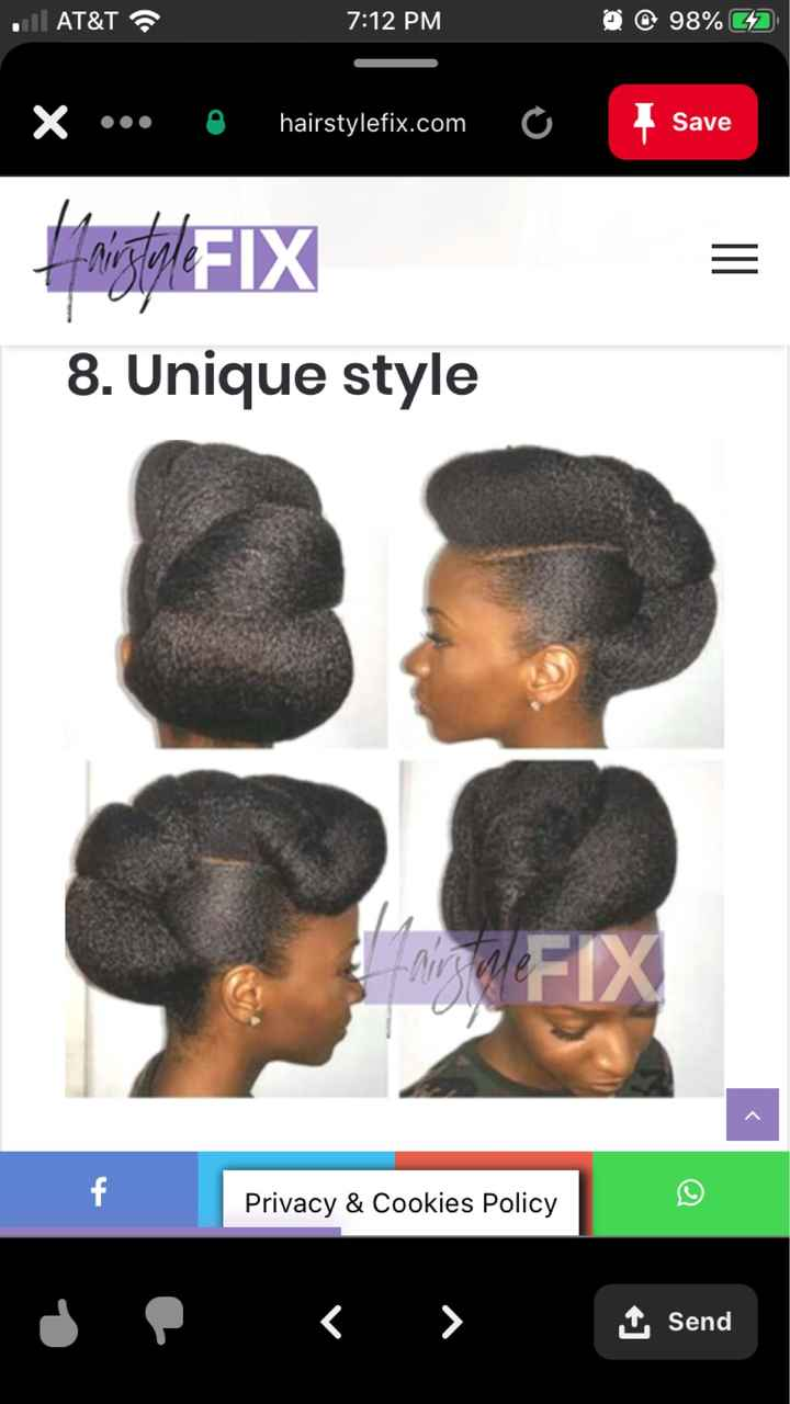 Natural Hair Wedding Styles - 4c Hair - 3