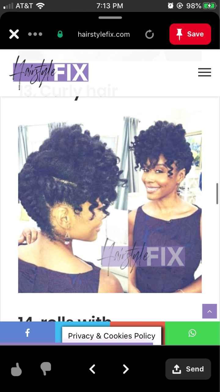 Natural Hair Wedding Styles - 4c Hair - 4
