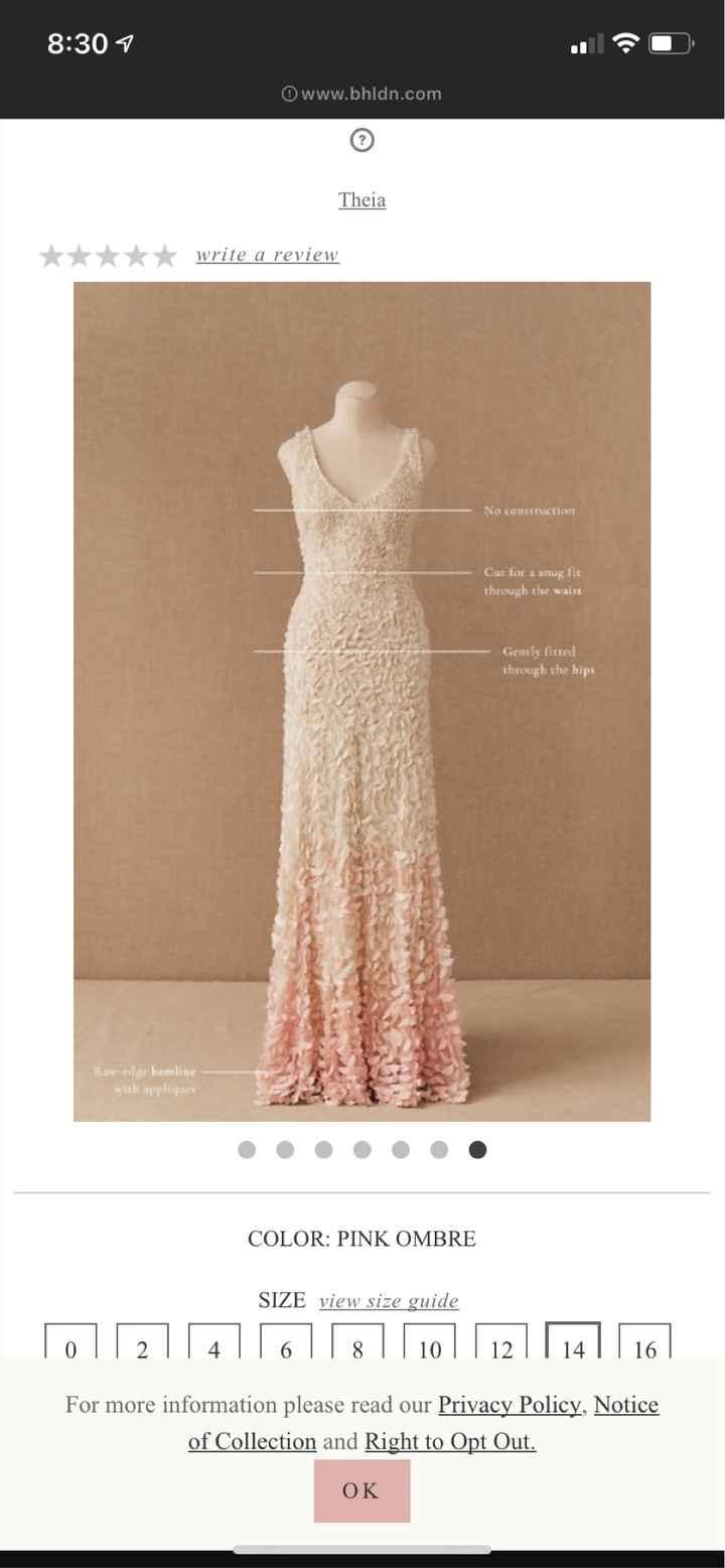 Dyeing Bottom of Wedding Dress - 1