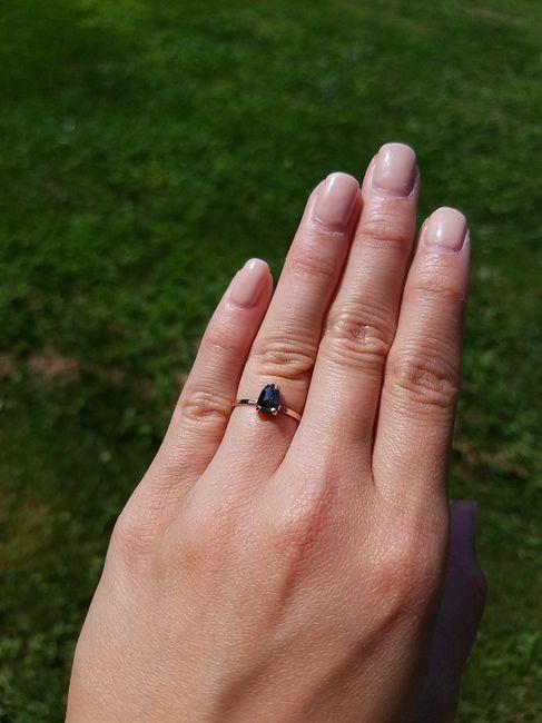 Black diamond with rose gold