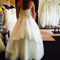 Can you bustle a tulle wedding dress?