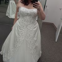 I said yes to this A-Line , Having neckline altered into a sweetheart, Really wanted a fit and flare