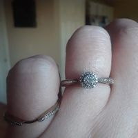 the wedding band hooks up underneath the e-ring