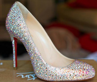 f7e9d66f025f DIY~I strassed my own wedding shoes using genuine swarovski crystals ...