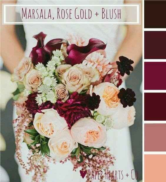 Wedding Colors for an October Wedding