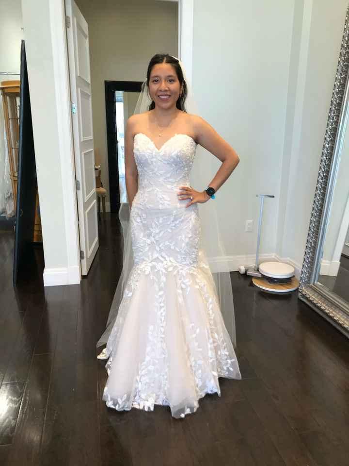 Need help deciding between two wedding dresses! - 1