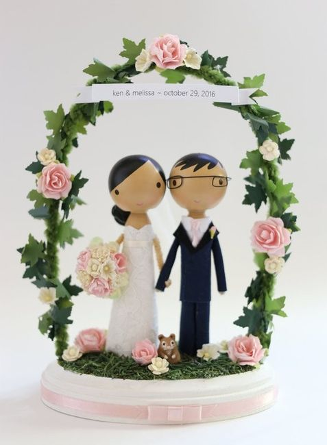 Do couples still use figurine cake toppers? 8