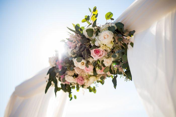 Hanging Flower Ceiling designs 2