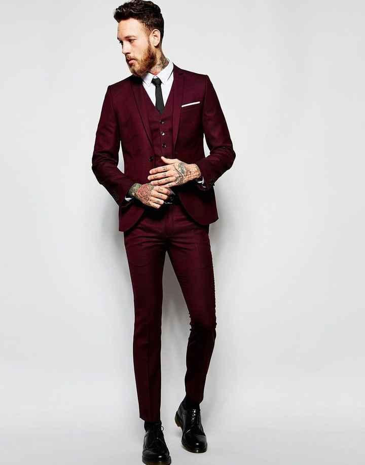 Full Burgundy Suit