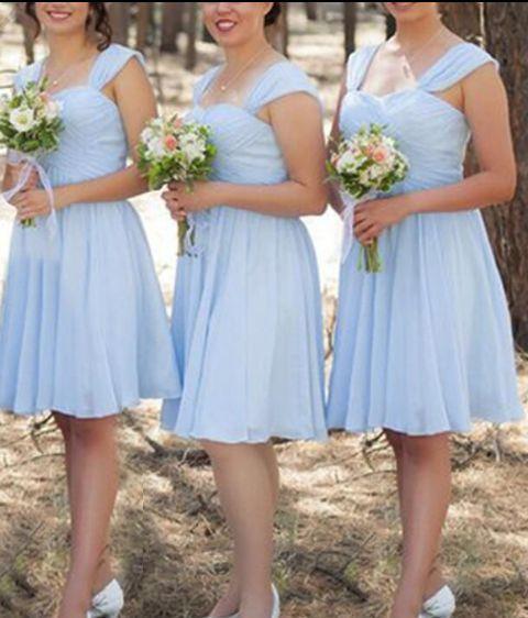 Knee length wedding dress... what to do for bridesmaids? - 3