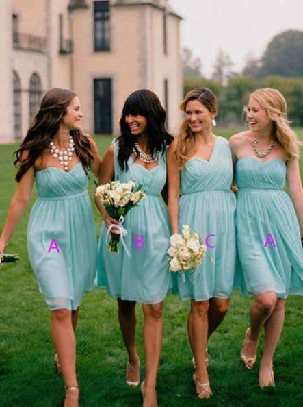 Knee length wedding dress... what to do for bridesmaids? - 4