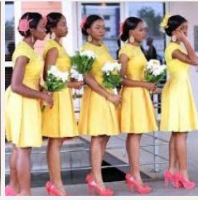 Knee length wedding dress... what to do for bridesmaids? - 7
