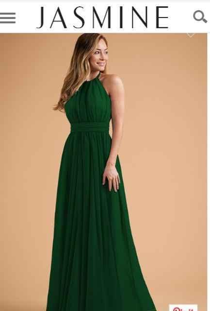 Dark Green Bridesmaid Dresses 2