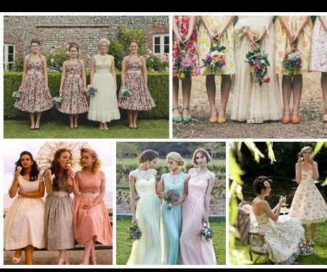 Knee length wedding dress... what to do for bridesmaids? - 2