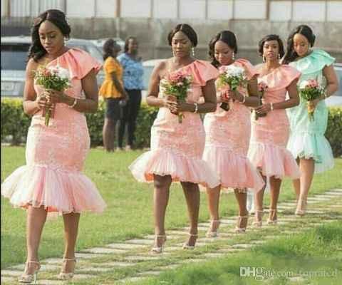Knee length wedding dress... what to do for bridesmaids? - 5