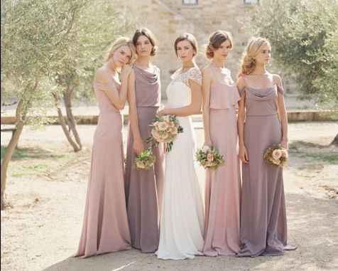 Knee length wedding dress... what to do for bridesmaids? - 6