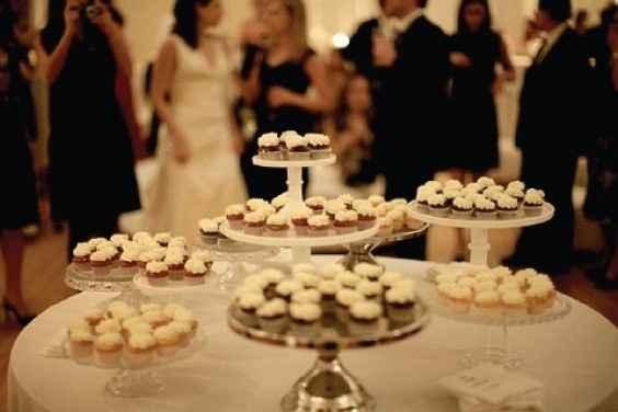 Those who are having a cupcake cake