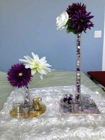 DIY centerpieces & cupcake tray ideas (w/pics)