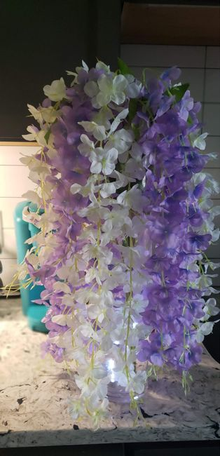 Faux hanging wisteria/garland? 3