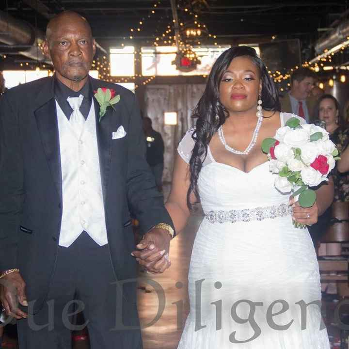 Walking with Dad down the aisle