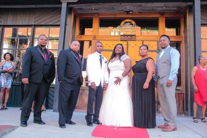Bride and Groom and Siblings