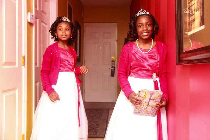 Flower Girls my daughter and my niece