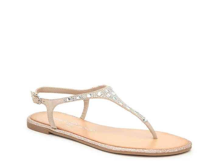 Wedding flats/sandals - 1