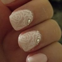 Any try rhinestones on gel nails - 1