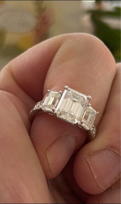 Proposing. Just the two of us or with her family there? 6