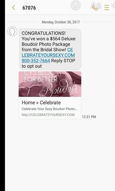 Bridal show Boudoir Scam or legit?