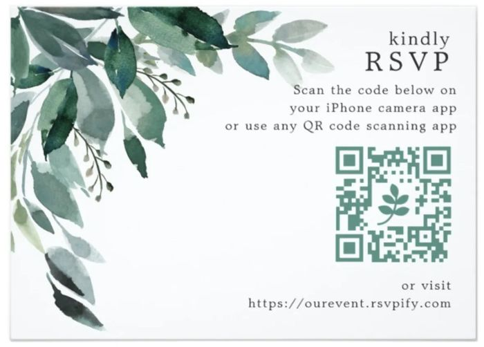 Tacky or fun to include a qr code with wedding invitation? 1