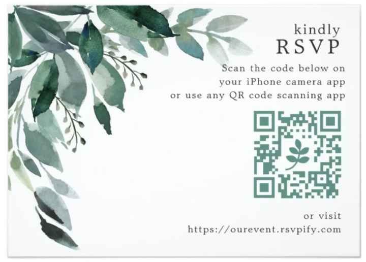 Tacky or fun to include a qr code with wedding invitation? - 1