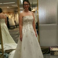"""How many dresses did you try on before saying """"yes?"""" - 1"""