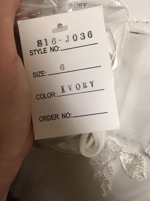 Is my dress one of a kind or something? 2