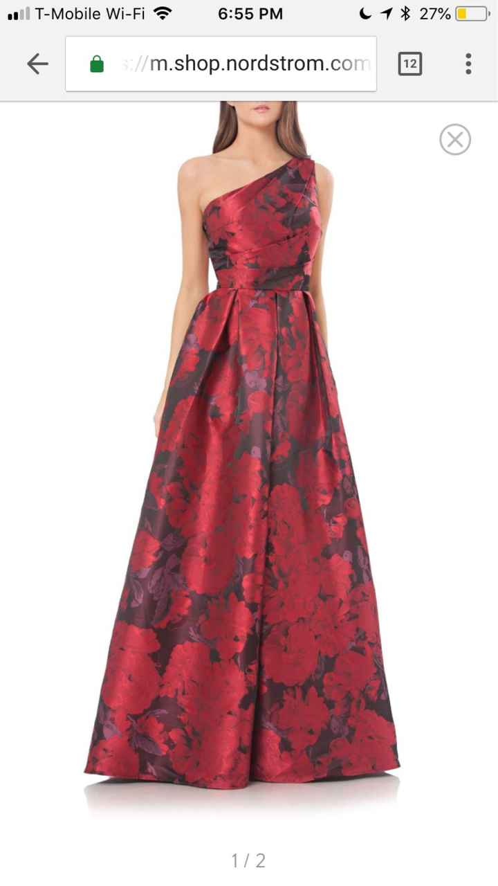 Red wedding dress - 1