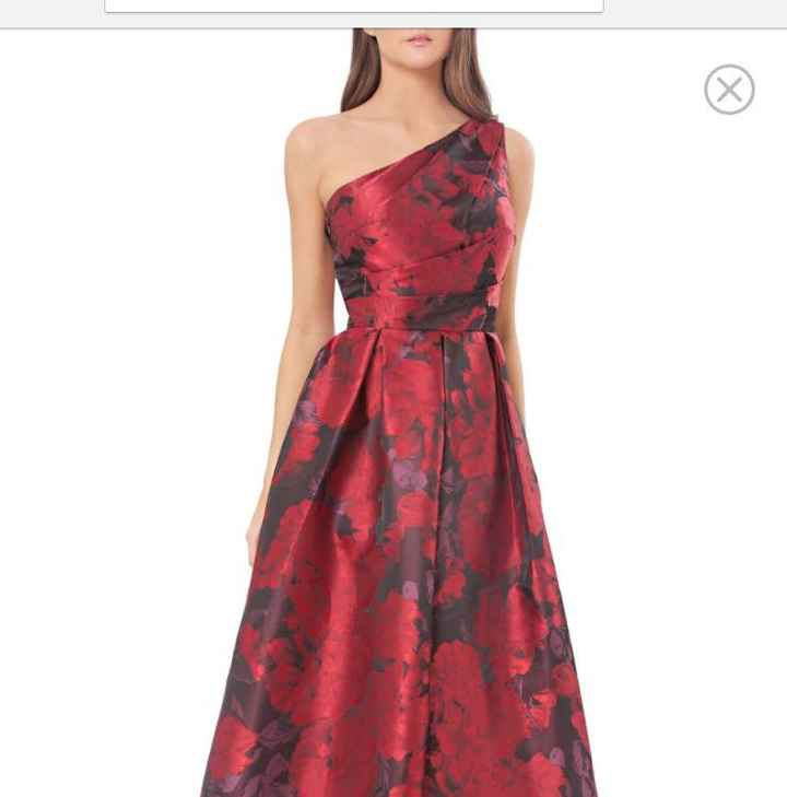 Looking for a blood red ball gown - 1