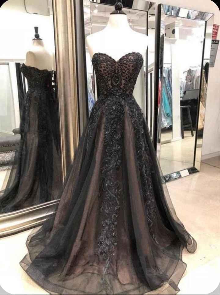 Black Wedding Dress - 1